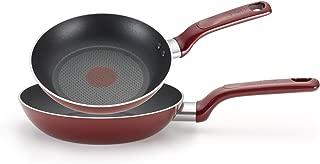 T-fal 特福 C912S2 Excite 熱力不粘鍋 8英寸和10.25英寸煎鍋,2件套,紅色