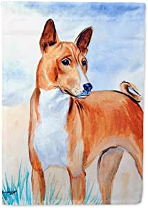 Caroline's Treasures Red Basenji Flag Made or Printed in the USA 多色 小号