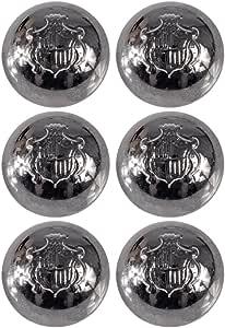 Mibo ABS 镀金属饰章柄纽扣圆顶形状 带有纹章盾徽 金属灰 28mm ZZC_MIB_SS16_7221_44GM