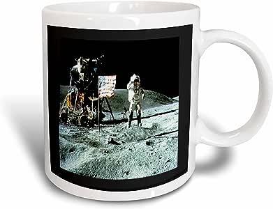 3drose florene patriotic–Photo OF APOLLO 月亮 landing–马克杯 白色 11 oz