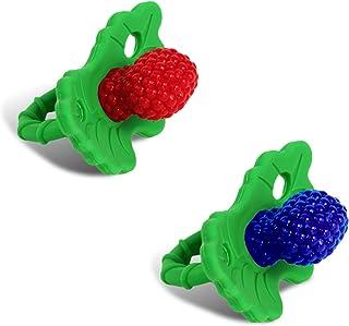Razbaby RaZberry牙膠 - 2件裝 紅色/藍色