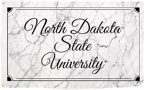 沙漠仙人掌北达科他州立大学 NDSU 野牛雷霆队 NCAA * 涤纶室内室外 91.44 厘米 x 1.52 厘米标志装饰(大理石旗)
