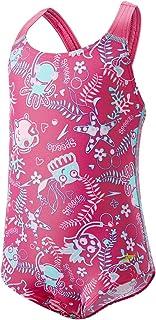 Speedo 女童 seasquad 印花泳衣