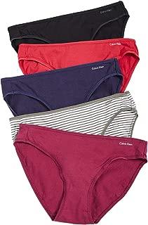 Calvin Klein 女士棉质弹力带徽标比基尼内裤5条装