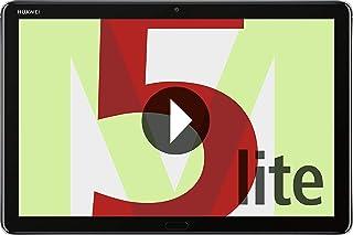Huawei 华为 Mediapad M5 Lite LTE 平板电脑(25.6 厘米(10.1 英寸)全高清显示屏,32 GB 内部存储器(可扩展),3 GB RAM,指纹,哈曼卡顿扬声器)+ 5欧元优惠券,灰色