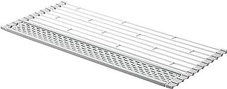 Yamazaki 山崎实业 折叠沥水器 带硅胶托盘 L 白色 约W58XD26XH0.8厘米 托盘 带小物件也能切水器 可收纳沥干 5056