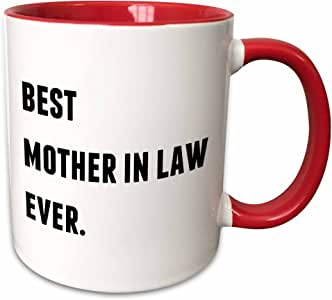 Xander inspirational quotes - Best Mother In Law Ever, Black Letters On A White Background - Mugs 红/白色 11-oz Two-Tone Red Mug