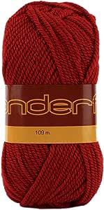 Wonderful 4 件装(纱线)精制纱线羊毛 50% 丙烯酸 50% 每一纱线 3 盎司(85 克)119 码(109 米) 红色 WDF