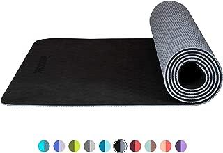 Retrospec Zuma 瑜伽垫 w/尼龙带男女适用 - 防滑运动垫适用于瑜伽、普拉提、拉伸、地板和健身锻炼