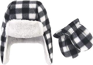 Hudson Baby 中性款婴儿和幼童抓绒帽子和手套套装