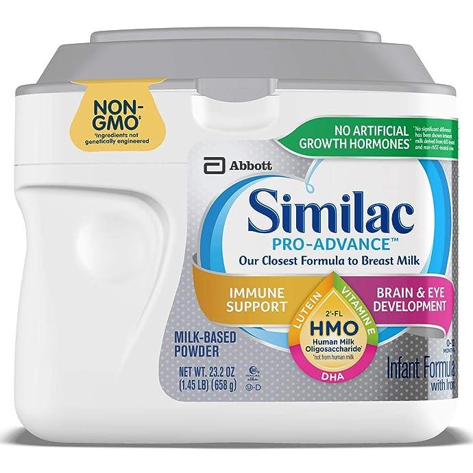Abbott 美版雅培 Similac 心美力 Pro-Advance 含2′-FL HMO 1段婴幼儿配方奶粉 658g 镇店之宝¥145 单罐包邮