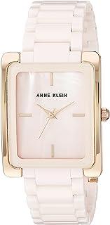 Anne Klein AK / 2952LPRG 女士陶瓷手链手表,Pink/Rose Gold