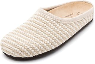 Le Clare Nebraska 女士意大利编织麻布洞洞鞋带足弓支撑软木内底室内室外鞋底