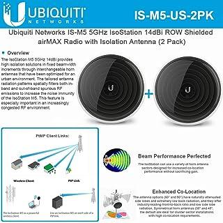 IsoStation M5 IS-M5-US 屏蔽 airMAX CPE 5GHz 14dBi 排无线电隔离天线(2 件装)