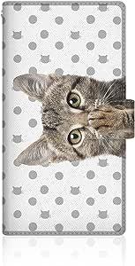 CaseMarket x NYAGO 【手册式】 apple iPhone 6 Plus (5.5inch) iPhone6p 超薄壳 针脚样式 [ NYAGO 笔记本 可爱 把肉球涂抹起来~ 粉色 圆点 箭头~ - 粉色 ] 皮革手册式 针脚 & 皮带孔iPhone6p-VCM2S2299 灰色