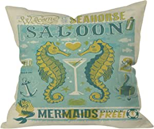 """DENY Designs Anderson Design Group Anchors Aweigh 抱枕 Seahorse Saloon 26"""" x 26"""" 14336-thpo26"""