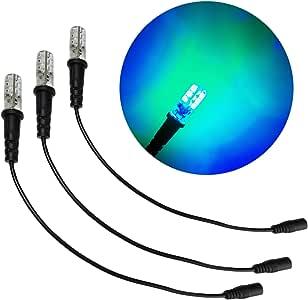 3 只装海洋蓝** LED 12 伏直流电带泡沫木安装电缆套筒 DC 桶连接器适用于主题环境道具戏剧风景水主题