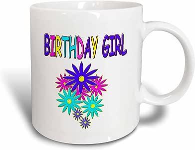 3dRose Birthday Girl Ceramic Mug, 11-Ounce