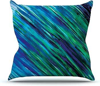Kess InHouse Theresa Giolzetti 套装彩色溅水室内/室外抱枕 18 x 18 英寸(长x宽) 蓝色 TW1013COP03