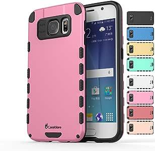 Caseblare s6 坚固纤薄外壳轻质钛合金外壳防震防摔保护黑色 S6, S6 edge 粉红色