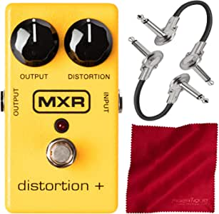 Dunlop MXR 失真+效果踏板带电缆和超细纤维布
