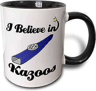 3drose dooni Designs I believe IN Designs–I believe IN kazoos–马克杯 黑色/白色 11 oz