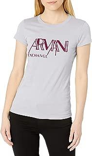 A X Armani Exchange 女式圆领常规版型短袖