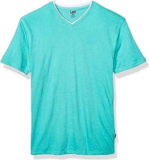 LEE 男式短袖休闲 V 领 T 恤常规款大号