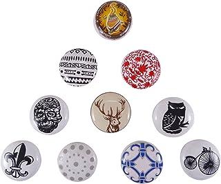 ibaexports 多色橱柜门抽屉装饰陶瓷独特厨房把手,10 件装