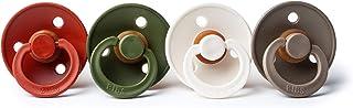BIBS 不含雙酚 A 天然橡膠嬰兒安撫奶嘴,丹麥制造 2 件裝 Rust/Hunter Green/White/Dark Oak 0-6 個月