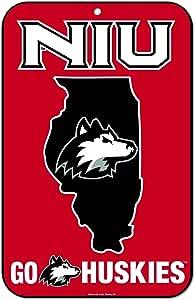 WinCraft Northern Illinois Huskies 官方 NCAA 27.94cm x 43.18cm 州塑料墙标志 27.94x43.18cm 576644