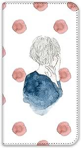 卡丽 壳 双面印刷手册 女孩子和圆点 智能手机壳 手册式 对应全部机型 女の子とドットB 4_ AQUOS Xx-Y 404SH