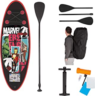 John 52502 Marvel Avengers 钢铁侠绿巨人雷神儿童 SUP 板套装 立式桨 多色