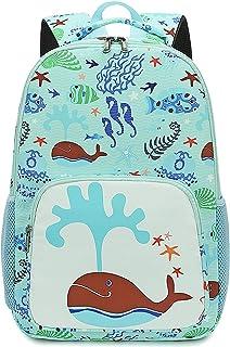 CAMTOP 儿童背包 学前幼儿园书包 幼儿书包 男孩和女孩 A-Light 蓝色 S