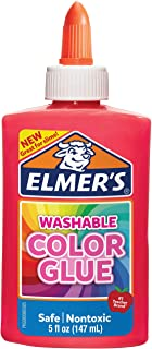 elmer's ' s 可水洗颜色和胶水粉色12盎司非常适合 MAKING Slime