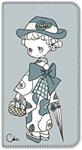 caho 保护套双面印花翻盖和服与花手机保护壳翻盖式适用于所有机型  着物と花D 8_ ZenFone5 A500KL