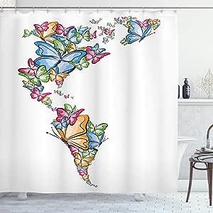 ambesonne 家居装饰系列涤纶面料浴室浴帘122cm x 183集