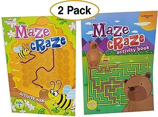 Kappa 卡帕迷宫儿童迷宫书 游戏拼图书,乐趣&挑战(2件装)