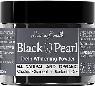 黑珍珠活性碳牙齿美白–有机 & 天然–remineralizing 牙粉–美国制造–玻璃罐