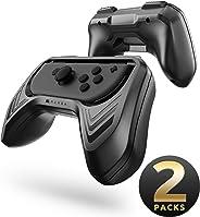 Mumba Grip 任天堂 Switch Joy-Con,2 件装开关控制器手柄套件,适用于任天堂 Switch Joy-Con (黑色)