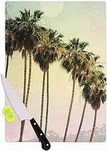 "KESS InHouse Sylvia Coomes ""棕榈树海岸摄影""砧板,多色 多种颜色 11.5 by 8.25"" SC4041ACB01"