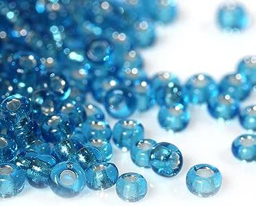 10/0 玻璃珠圆形约 2 毫米 (1/8) 直径,孔:约 0.6 毫米,100 克 水绿色 B09079