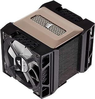 Corsair A500,高性能双风扇 CPU 散热器(冷却高达 250W TDP,直观滑动锁定风扇支架,两个 Corsair ML120 风扇,安装方便,预贴热材料)黑色