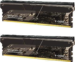 v-Color Skywalker Plus 64GB (2 x 32GB) DDR4 3200MHz (PC4-28800) CL16 1.35V 台式机内存型号银色 (TO432G32D816ASPSXK)
