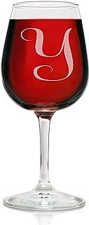 交织字母 12.75 盎司雕刻*杯 优雅玻璃 适合饮用红*或白*的风格- 适合任何特殊场合的完美礼物 - 作者:Rox Y-monogram SYNCHKG095391