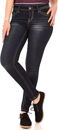 WallFlower 女式青少年不可抗拒的牛仔裤(内缝长 71.12-76.20 cm) 湖泊 7 Long