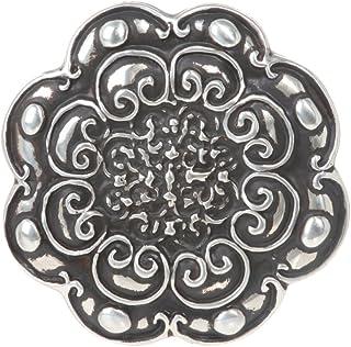圆形花卉雕刻皮带扣