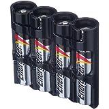 Powerpax Storacell SlimLine AAA 6 件装电池盒,橙色 Holds 4 Batteries SLAAA4pkTB