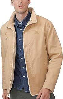 CAMEL 男式羊毛内衬夹克保暖夏尔巴冬季开襟大衣,毛皮时尚牛仔布卡车司机外套