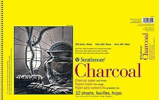 """Strathmore 300 系列木炭垫,白色,线装 多种颜色 11 by 17"""" 330-11"""